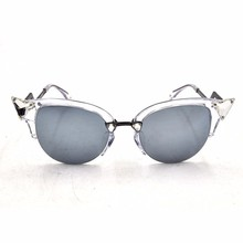 Mirror Lens Sunglasses,Most Popular cat eye ,Updated Custom sunglasses