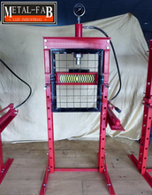 20T 20Ton 20Tonne Hydraulic Floor Shop Press With Gauge, Press Pin Set & Grid Guard
