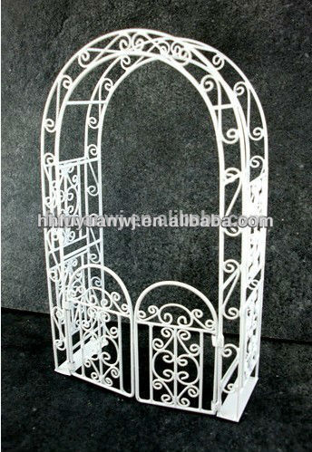 Decorative iron plant garden arch design/wrought iron pergola/pavilion/ arbours