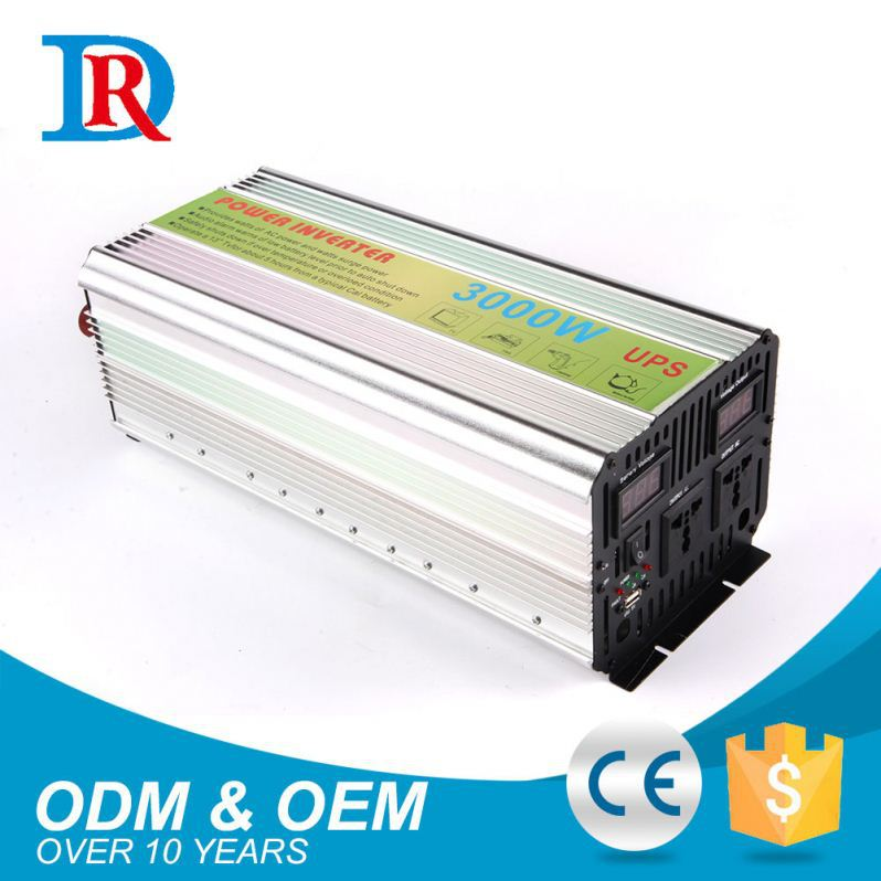 Factory Direct Price 12V Input 220V Output 3000W Ups Rechargeable Inverter