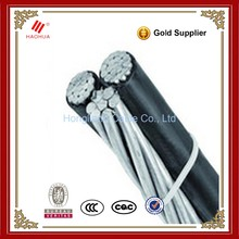 NO.3725- 600V Low Voltage Aluminum Core PE Insulation Aerial Bunch Triplex Aerial Twisted Cable