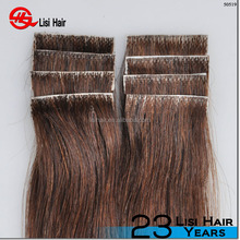 wholesale best quality double drawn indian remy tape hair extensions , remy skin weft/pu weft