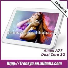 2012 Newest Ampe 7 inch 3G QUALCOMM MSM8225 Android 4.0 Tablet PC Support GPS/3G/Cell Phone/Bluetooth