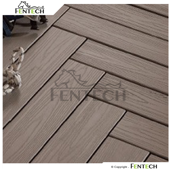 Fentech outdoor plastic boat decking material 100 pvc for Plastic decking material