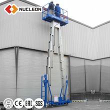 Double-mast Aluminium Aerial Lift suspended platform Hydraulic Lifts