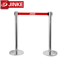 2018 JINKE Superior Quality Anti-rust Concrete External Exhibition Belt Barrier Reasonable Price Concrete Bollards Barrier