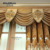 New fashion embroidery designs polyester window curtain