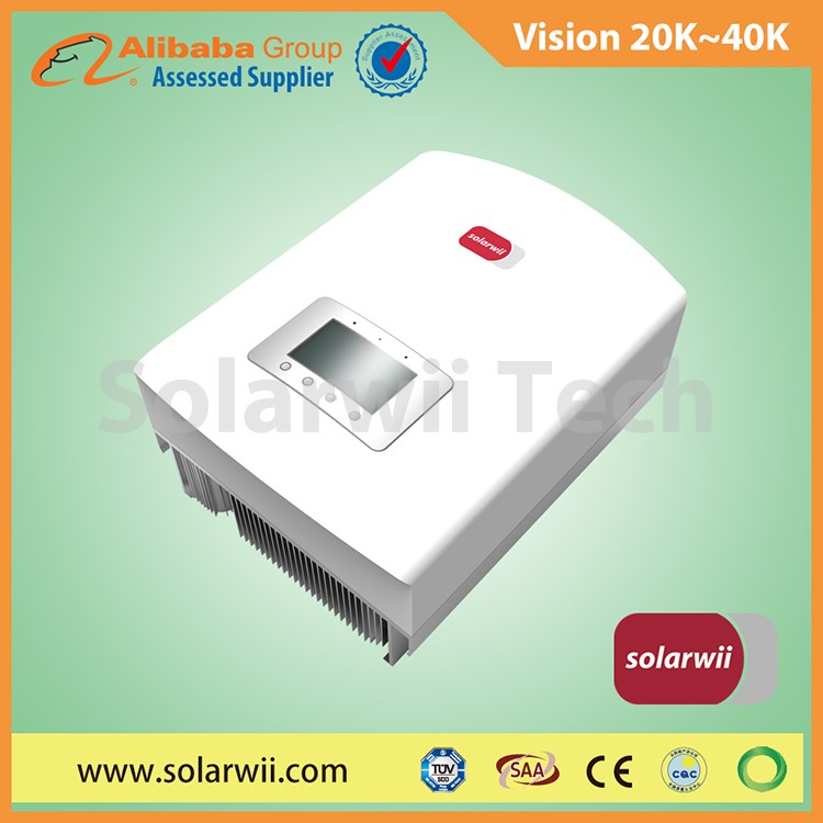 Solarwii high tech 20kW to 40kW Vision Series dc to ac inverter 3 phase for on grid system | dc to ac inverter
