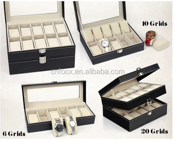 6 10 12 20 slots leather gift watch case / watch display organizer / watch display case