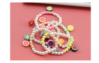Candy hang decoration customized bracelets girls pearl brace princess lace pulsera