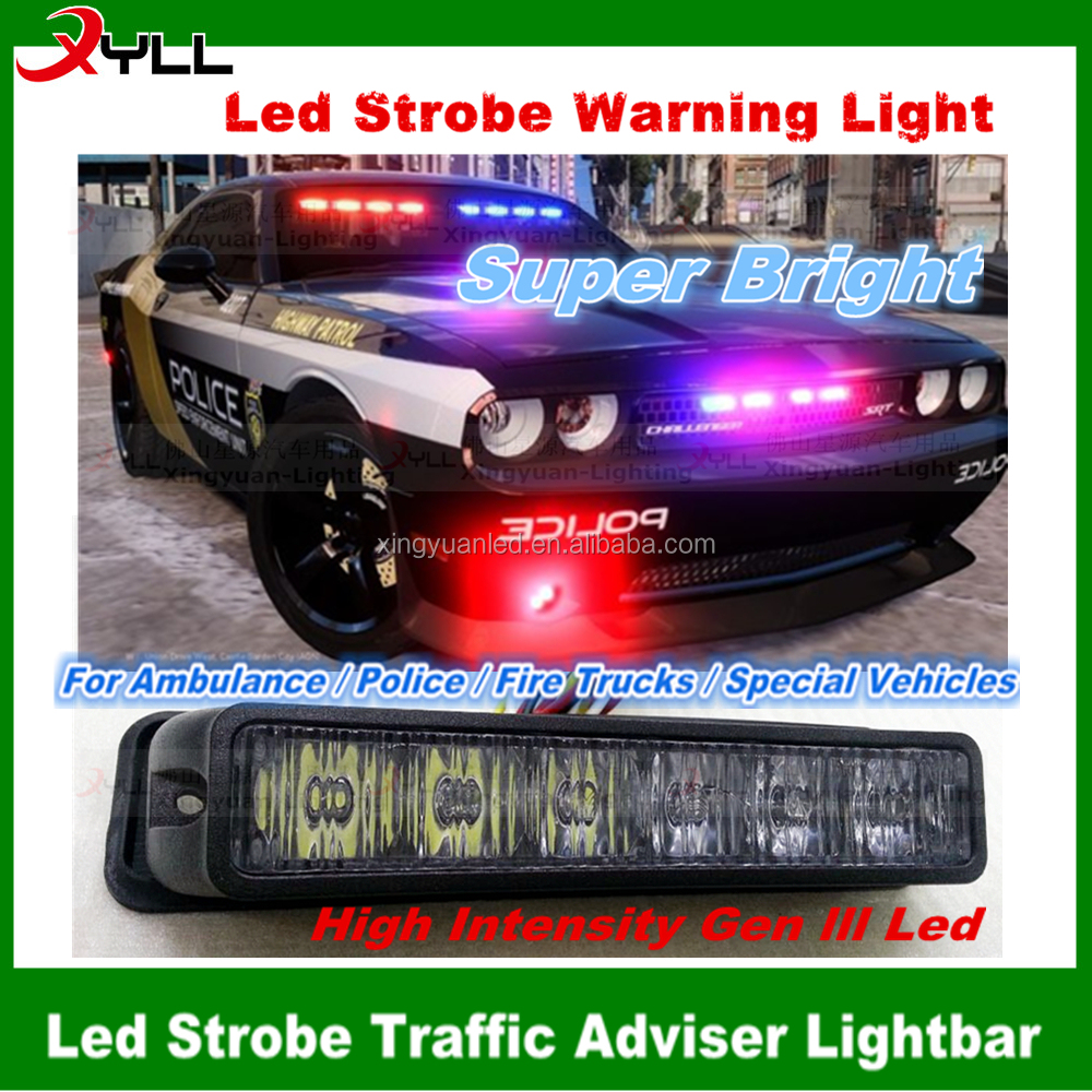 12V police led module car grill dash deck strobe flash light