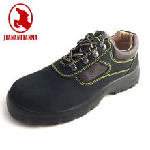 Nubuck leather anti-slip acid resistant work safety shoes with steel toe