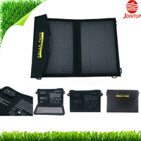 7W Foldable Solar Panel integrated with Fabric bag, workable as portable solar charger kit for mobile, camera etc