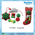 XMAS Cat Toy Plush Mouse And Snowflake Cute Cat Stocking Toy