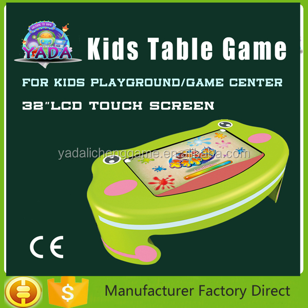Happy kids pre-school learning touch game machine