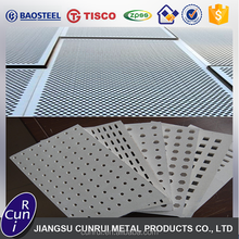 China supplier 201 304 316 430 stainless steel perforated metal sheet