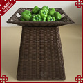 Factory direct plastic rattan weave basket for vegetable storage