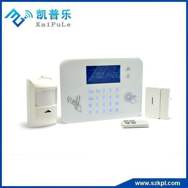 CE Approved touch screen wireless alarm system with LCD and touchkeypad GSM alarm host