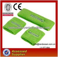 Green Cotton Sweat Wristband and Headband