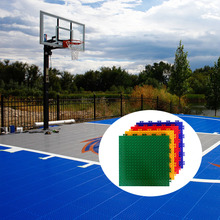 Temporary portable backyard modular interlocking used outdoor basketball courts sports flooring materials for sale