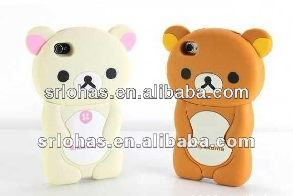 New Cartoon Animal Silicone Couple Case For Iphone 4