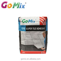 Excellent water resistant polymer fortified super porcelain tile adhesive