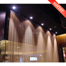 honeycomb decorative metal drapery wire mesh curtain for window or room divider