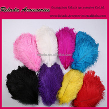 Cheap Gorgeous wedding table decoration Multi color ostrich feather for evening dress