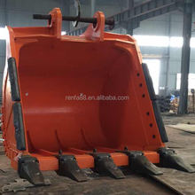 Hot sale spare parts large excavator bucket with rock standard heavy duty