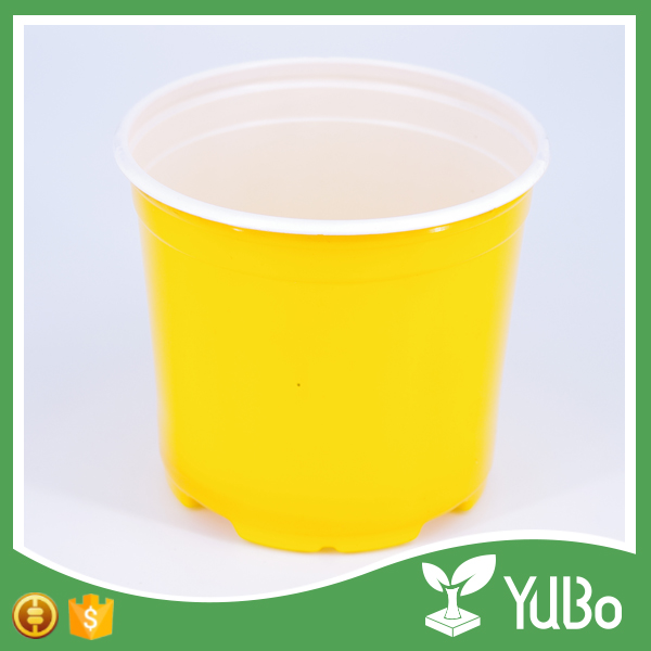 Plastic large garden outdoor plant containers, colorful nursery flower pot for plant