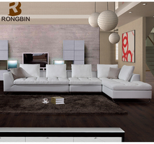 Living room sofa furniture,warm white designs leather funiture recliner leather sofa