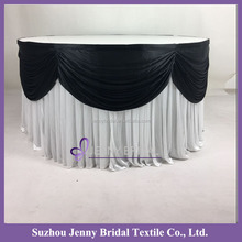 TS094E different designs of table skirting for birthday plain table skirting for wedding banquet table skirting