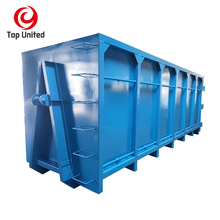 Top open structure industry container scrap metal management hook lift bin