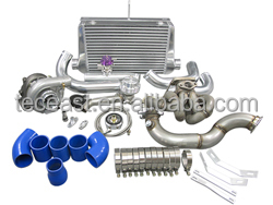 TEC Turbo Intercooler kit Top Mount + Downpipe for Toyota Corolla AE86 4AGE