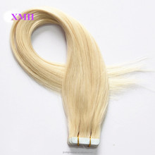 XMH Hair different color human hair extension virgin remi brazilian tape hair extensions