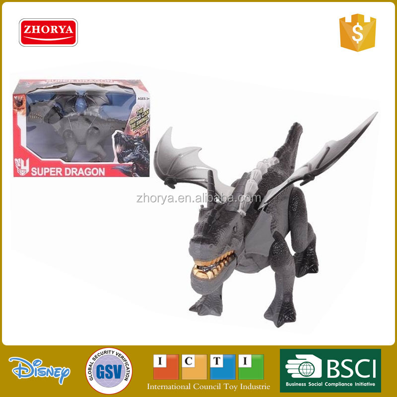 New Simulation style authentic electric kids B/O walking dragon dinosaur toys with wings