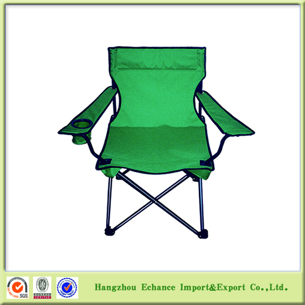 Cheap Outdoor camping and fishing folding arm chair with cup holder
