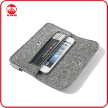 Manufacturer Wholesale Mobile Phone Portable Soft Handmade 100% Pure Wool Felt Pouch Bag for Iphone 6 plus