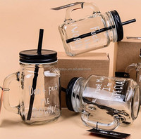 Roasting machine Christmas glass mason jar/drinking square glass jars and lids/wholesale custom glass jars