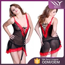 Top quality chinese imports mature women transparent german lingerie