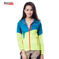 Summer fashion embroidered lady running windbreaker