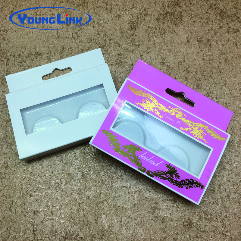 luxury custom printing eyelash packaging paper box with blister tray