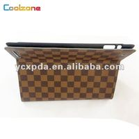 cannage pattern, pc+pu leather case for new ipad design