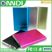 ultra thin 10000 mah power bank charger , polymer battery .