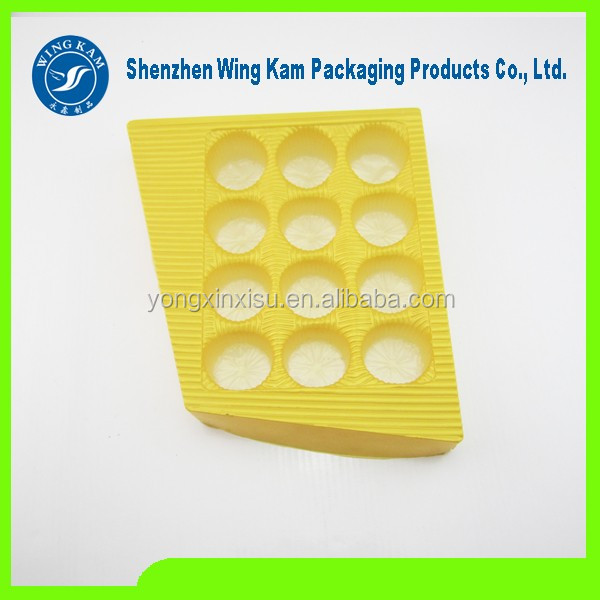 PET plastic gold chocolate packaging tray inserts