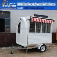 stainless steel mobile food truck/ ice cream cart/ hot dog mobile food car