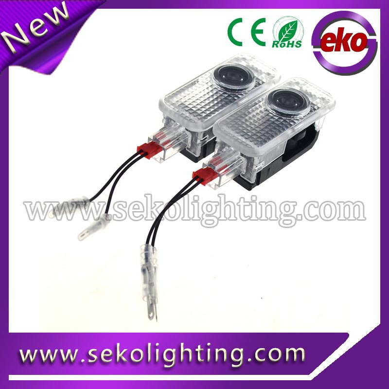 Temperature control function wireless led door courtesy light with car logo for AUDI RS S-line