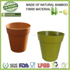 wholesale bamboo fibre bio eco-friendly garden hanging flower plant holder, flower pots