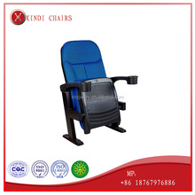 XD-9268 commercial plastic theeater cinema chair seat with cup legs iron legs chair