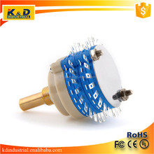 2 Pole 24 Step Rotary Switch for Attenuator Volume Control